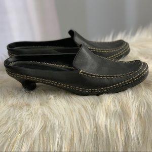 Aerosoles genuine leather black mules size 9M